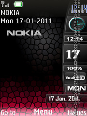 X-blak red v theme screenshot