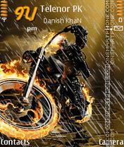 Скриншот темы Ghost Rider Animated