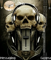 Music Skulls theme screenshot