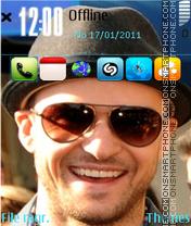 Скриншот темы Justin Timberlake