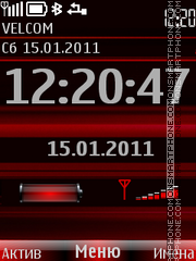 Clock, indicators theme screenshot