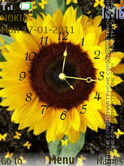 Sunflower clock Theme-Screenshot
