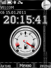 Clock, battery es el tema de pantalla