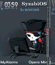 Hacker (FP1) theme screenshot