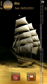 Ship in Desert v5 theme screenshot