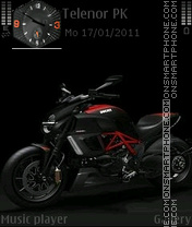 Ducati Diavel Carbon theme screenshot