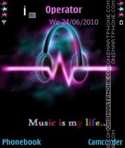 Music Is My Life es el tema de pantalla