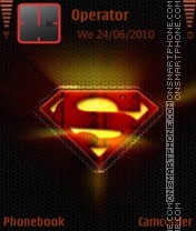 Superman red theme theme screenshot