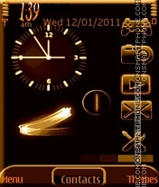 Animated Clock theme screenshot