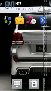 Land Cruiser 200 theme screenshot