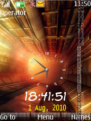 Orange dual clock theme screenshot