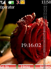 Rose clock tema screenshot