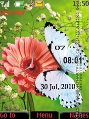 Butterfly dual clock tema screenshot
