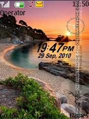 Sunset dual clock tema screenshot