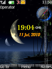 Summernight Clock tema screenshot