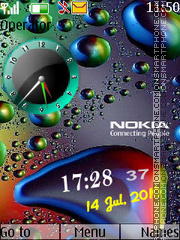 T Nokia Clock tema screenshot