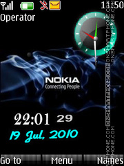 U nokia clock Theme-Screenshot