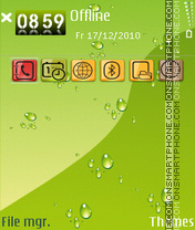 Blob theme screenshot