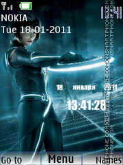 Tron Legacy - Quorra theme screenshot