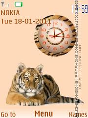 Tiger Clock 02 theme screenshot