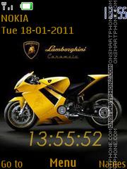 Lamborghini Clock 02 tema screenshot