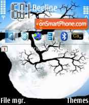 Moon theme screenshot