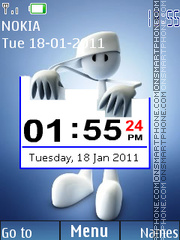 Digital Blue Clock theme screenshot