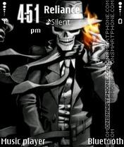 Скриншот темы Skeleton Fire