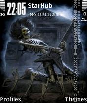 Death Rocker 2011 theme screenshot