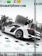 Audi R8 White 02 Theme-Screenshot