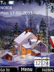 Winter Clock 03 theme screenshot