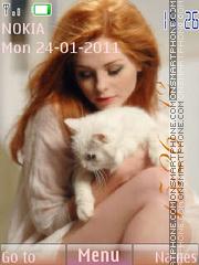 Скриншот темы Girl with cat