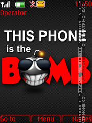 Bomb Phone theme screenshot
