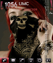 Gangsta Girl theme screenshot