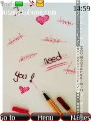 Love...) tema screenshot