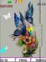 Butterflies es el tema de pantalla