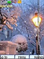 Winter lanterns swf theme screenshot