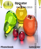 Fruits theme screenshot