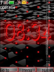 Black end red anim swf theme screenshot