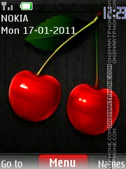 Cherry Clock theme screenshot