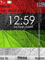 Colorful Leaf Clock theme screenshot