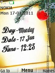 Time And Date Clock theme screenshot
