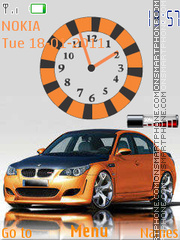Bmw Clock W Signal tema screenshot