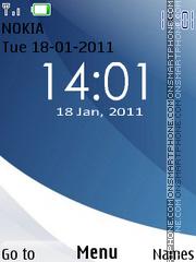 New Vista Clock 2011 theme screenshot