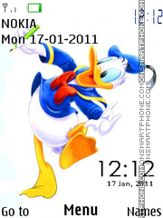Donald Duck Clock 01 theme screenshot