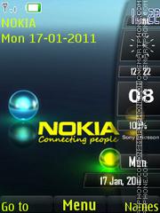 Nokia 3d Sidebar theme screenshot