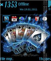 Poker Card es el tema de pantalla