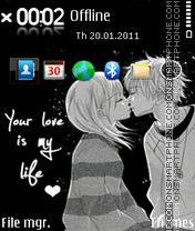 Love is life theme screenshot