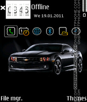 Black chevrolet theme screenshot