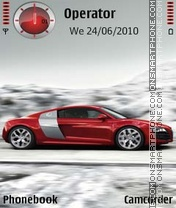 Audi R8 Red Style theme screenshot